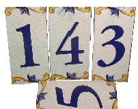 Handmade Letters and Numbers Ceramic Tiles